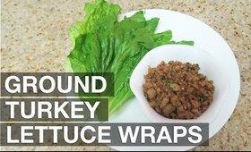 Ground Turkey Lettuce Wraps (Easy) | yummiebitez