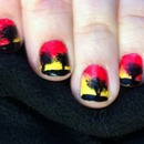 Lion King nails (copycatted)
