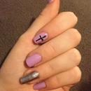 lilac & silver nails
