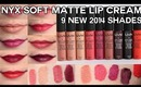 NEW NYX Soft Matte Lip Creams for 2014 (Swatches & Review) | OliviaMakeupChannel