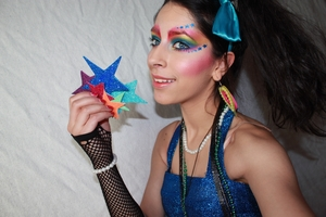 Thought it be cool to create a look inspired by Rainbow Brite as if she were an actual teen living the 80s. You can watch the tutorial here http://www.youtube.com/watch?v=qf3BtP4ovHE