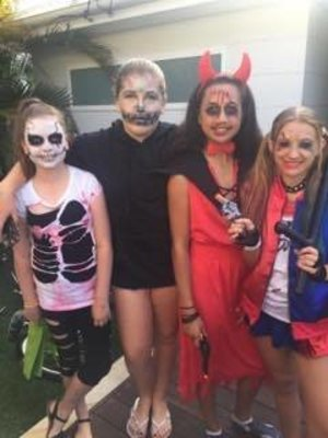 Last Halloween, my little cousin and her friends all decided to go Trick Or Treating and they wanted me to do all of their makeup for them which I did.