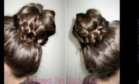 How To: Braided Tip Sock Bun