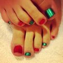 Christmas colored toes