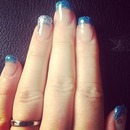 Blue and silver Nails - made by me.