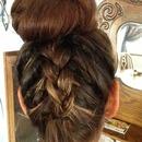 Inside out braid and ballerina bun!! :)