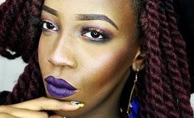 Maquillage de soirée aux couleurs intense