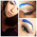 Glitter Blue Brows
