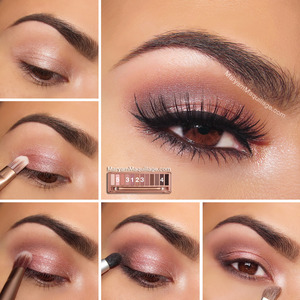 Full tutorial on my blog: http://www.maryammaquillage.com/2013/12/naked-3-tutorial-rosy-smokey.html