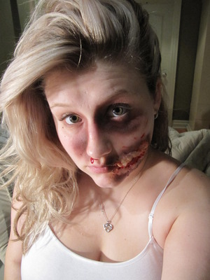 my first attempt at special fx makeup..