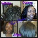 sew in bob w/ minor leave out