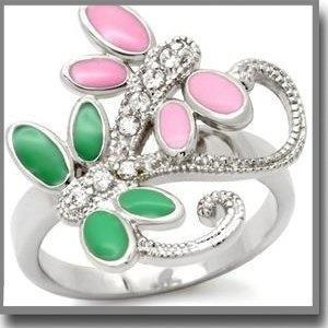 Green an pink ring