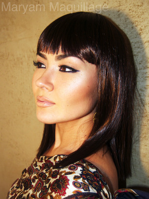 Modern Day Cleopatra Makeup & Hair http://www.maryammaquillage.com/2012/01/mademoiselle-cleo.html