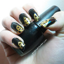 Leopard Print Triangle Nails