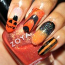 Busy Girl Nails Fall Nail Art Challenge - Orange 2