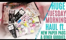 Tuesday Morning Haul This Week ft. New Paper Pads and Many Other Craft Goodies incl Fringe Scissors!