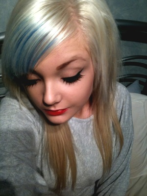 my funky blue and white hair