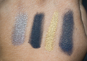 Twilight Saga Collection swatches (left - right) Eclipse, New Moon, Breaking Dawn, Twilight
