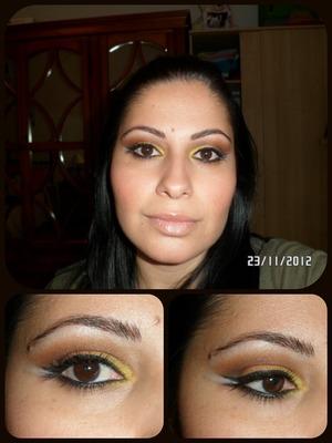 Arabic makeup en tonos calidos