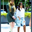 I'm in LOOOOVE with Kourtney shoes!!! Khole dress is fire too!!