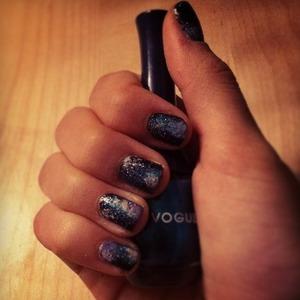 Galaxy nails made by my friend Charid H. !!