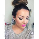 Pink lips and liner