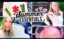 SUMMER ESSENTIALS 2015 || Beauty Hacks, Healthy Recipes & Outfits!!