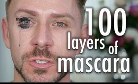 100 LAYERS OF MASCARA! I LITERALLY CRY!!!!