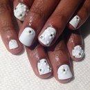 3D Matte White on White Floral