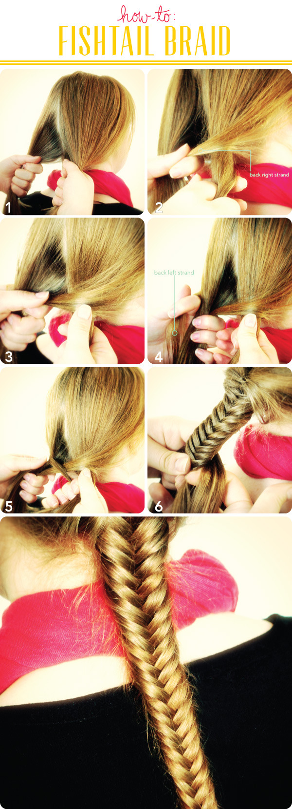 The Ultimate Fishtail Braid Tutorial and How-to Guide ... Fishtail Braid How To