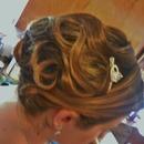 Updo on my Bride