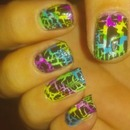 Neon Rainbow Crackle