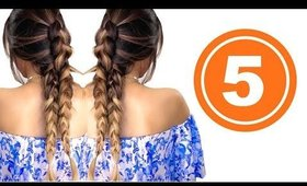 ★ 5 CUTE AF Back-to-SCHOOL 💋  HAIRSTYLES | GIRLS HAIRSTYLES