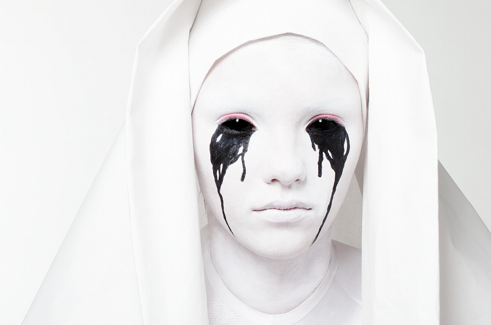 Simple Halloween Look Weeping Nun Makeup Beautylish
