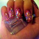 Sparkly Nails using KOKO nail Varnish