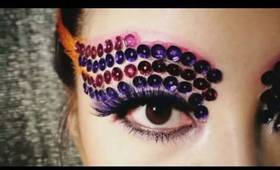 Makeup Purple Spangle