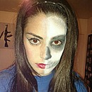 Skullface Pin-Up Halloween Makeup