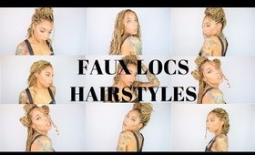 28 Ways To Style Faux Locs, Box Braids or Marley Twist