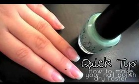 ♡ Quick Tip: How to make your nail polish dry faster ♡