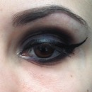 Black And Purple Smoky Eye
