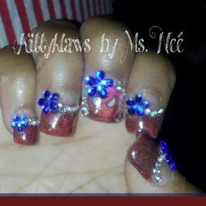 red navy blue w black glitter