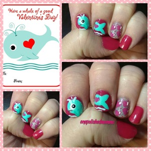 My attempt at a Valentine's day nail