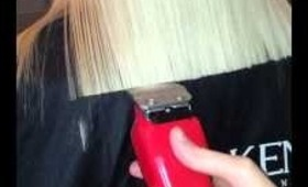 cutting long blond hair with a clipper barber wahl clippercut