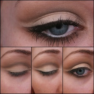 "Sorry for the crappy quality, but unfortunately I have the flu :( but many of you asked for a tutorial on the ""Bridal Eyes"" look I posted recently! So I condensed it into an easy quick look :) very few steps. Hopefully this helps some what. When I'm finally healthy again I will post a detailed pictorial.  (Products Used in previous pic) Step 1: prime entire lid - I used Soft Ochre paint pot by MAC.  Step 2: cover entire lid in Brulé by MAC, this helps the blending process. Step 3: using a pencil brush apply a dark brown shadow in your crease & wing it out. Step 4: using a blending brush, take a lighter brown & blend out your crease. Step 5: apply a shimmery white/cream color to the lid & wing it out under the brown. LIGHTLY blend your crease out again to prevent any harsh lines.  Step 6: apply your favorite black liner & wing it out slightly under the white shimmery color. I also smudged it along my bottom lash line about 3/4 of my eye. Step 7: take that dark color you used for your crease & apply it to your lower lash line, if it's too dark use a clean blending brush and BLEND :) Step 8: last but not least, white kohl liner in your water line, your favorite mascara & false lashes if you're feeling frisky ;)  Don't hesitate to ask any questions! Thank you all again for all the sweet comments!"