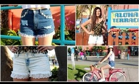 DIY Lace Trim Denim shorts + How I wear them! (BuyorDIY)