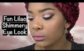 Fun Lilac Shimmery Eye Look