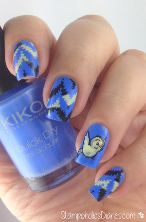 http://stampoholicsdiaries.com/2015/03/21/bird-nails-with-kiko-850-cerulean-and-mj-xliv/