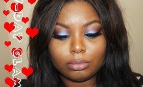 Sweet Purple Valentines Day Makeup