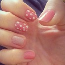pink white dotted
