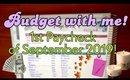 BUDGET WITH ME! | PAYCHECK 1 SETUP | SEPTEMBER 2019 | Zero Dollar Budget | Erin Condren Monthly